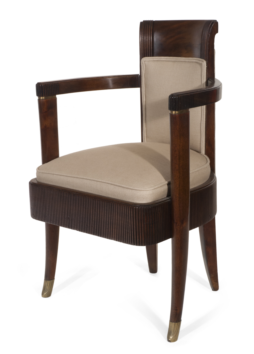 Armchair from the First Class Dining Room of S  Normandie